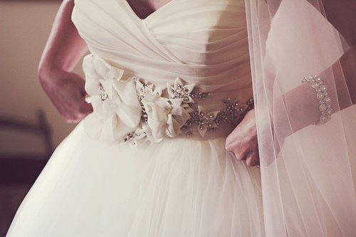 Beautiful Bride in her Dress