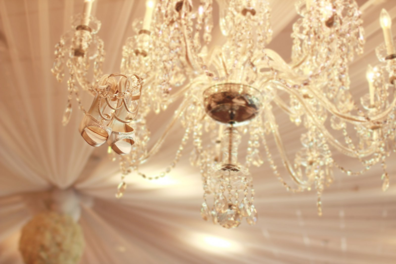 Wedding Shoes in Chandelier