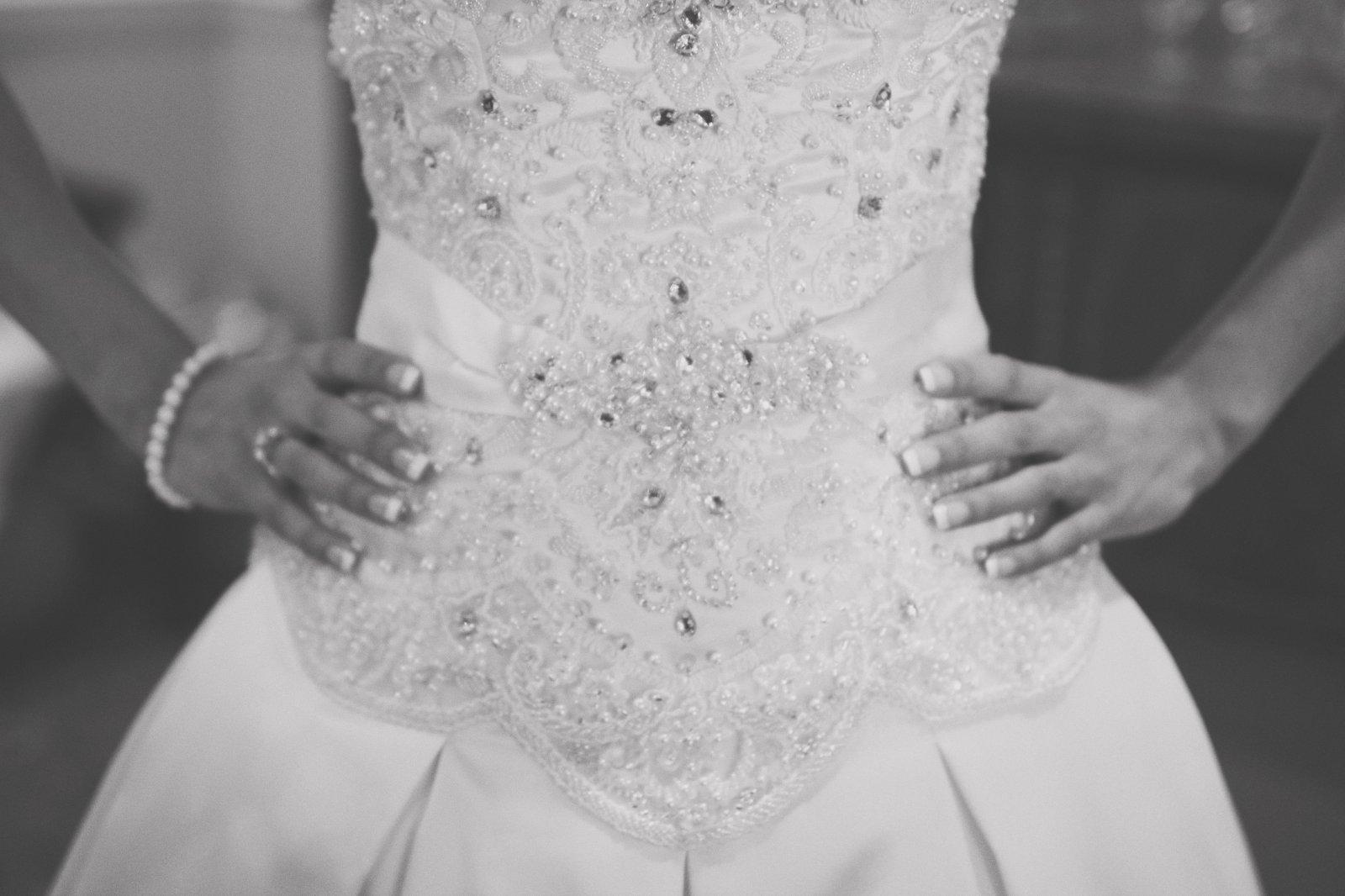 Bridal dress details