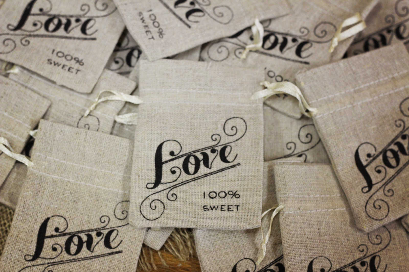 Wedding Details Burlap
