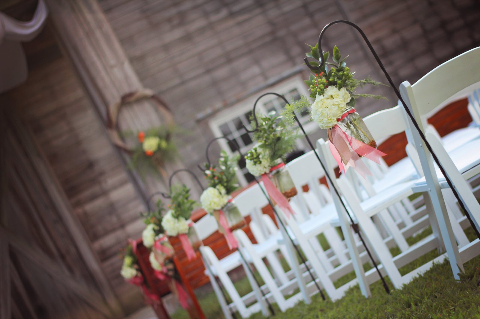 Rustic Wedding Aisle